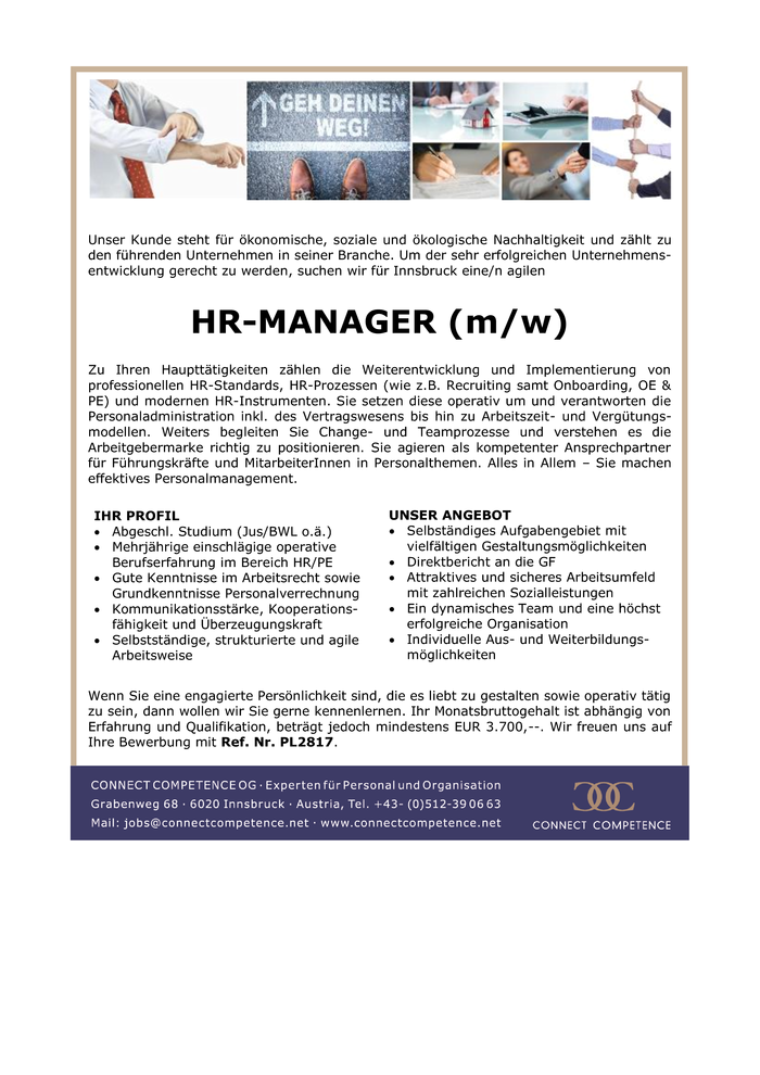 HR MANAGER (m/w)