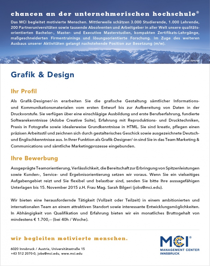 Grafik & Design (m/w)