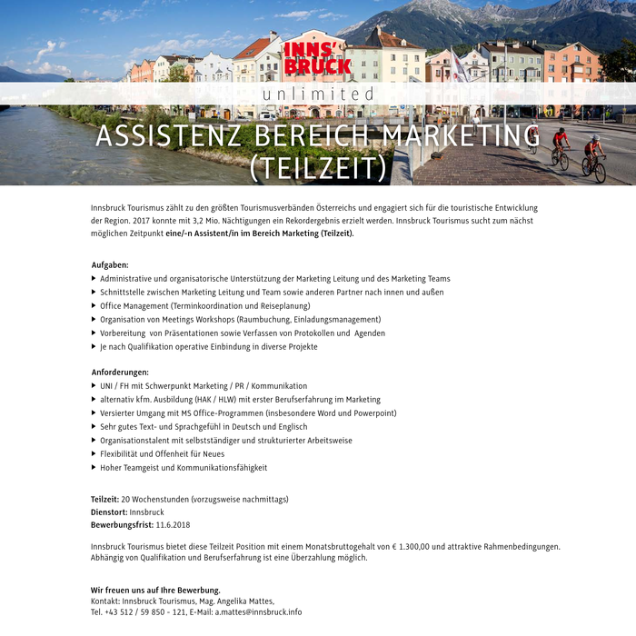Assistenz Marketing