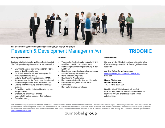 Research & Development Manager (m/w)