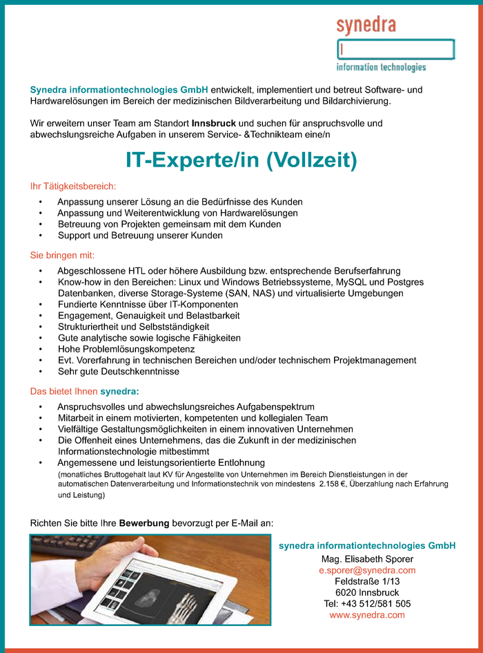 IT-Experte/in (Vollzeit)