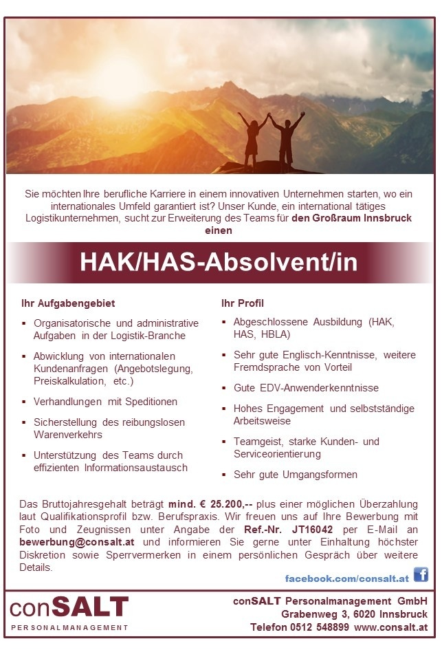 HAK/HAS Absolvent/in