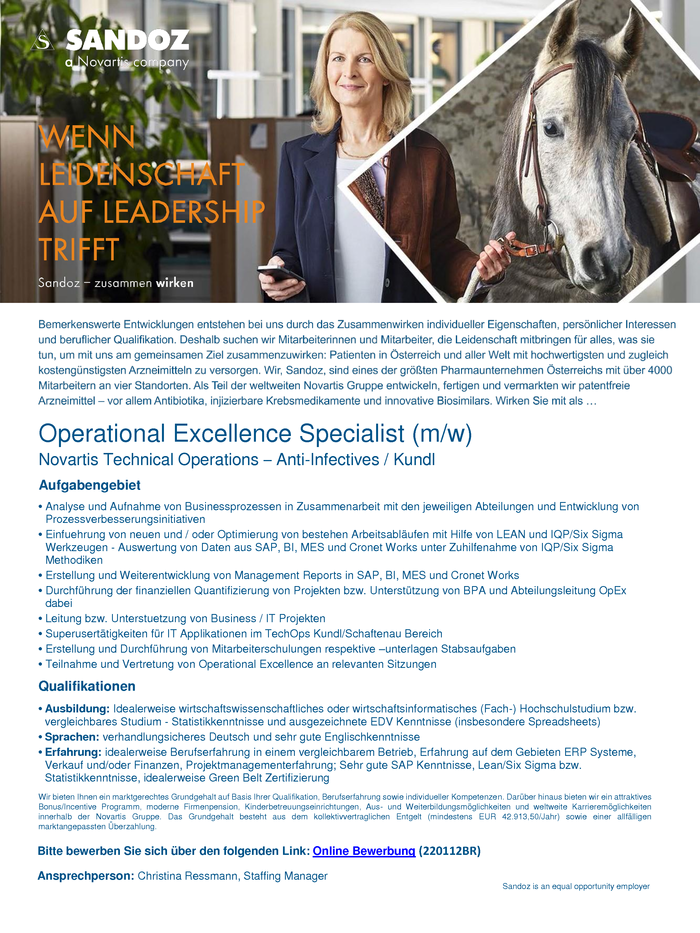 Operational Excellence Specialist (m/w)