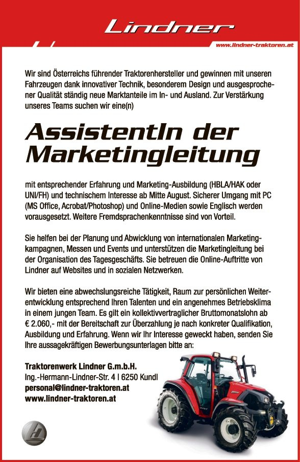 AssistentIn der Marketingleitung