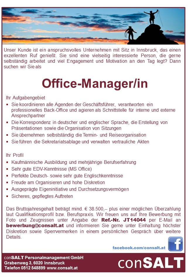 Office-Manager/in