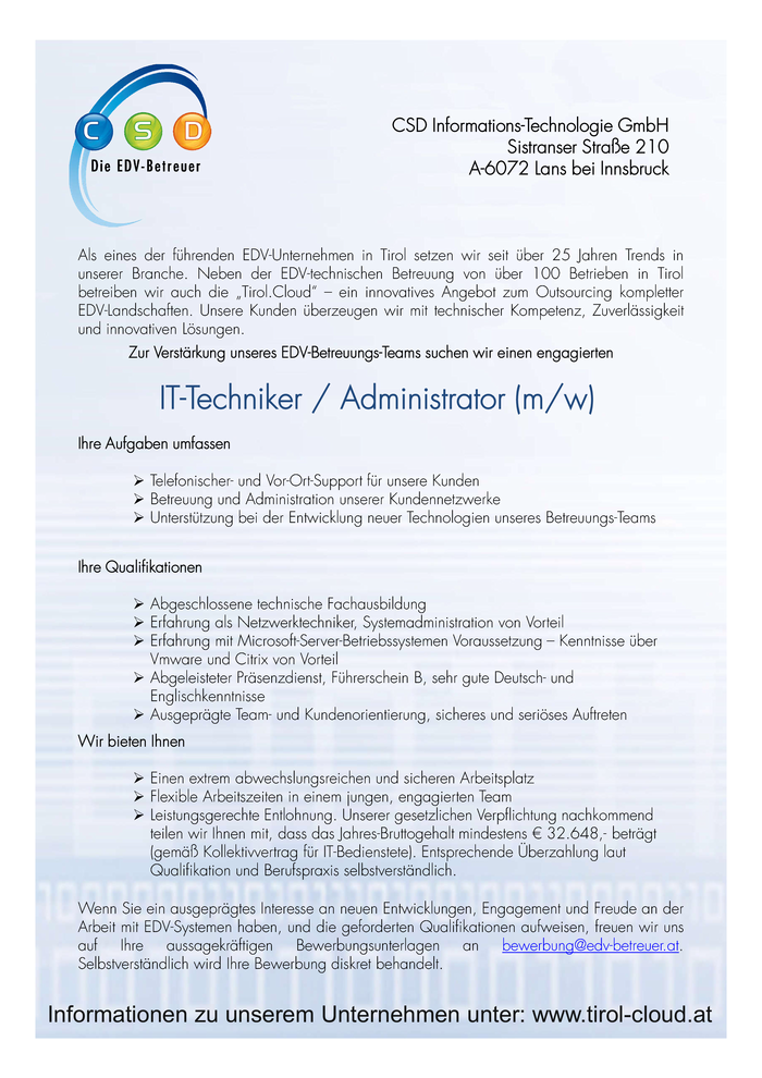 IT-Techniker / IT-Administrator