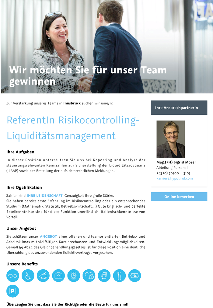 ReferentIn Risikocontrolling- Liquiditätsmanagement