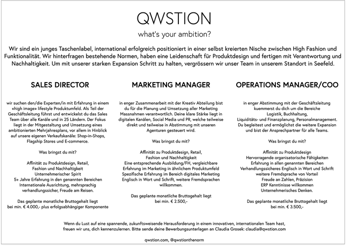 MARKETING MANAGER & OPERATIONS MANAGER/COO & SALES DIRECTOR