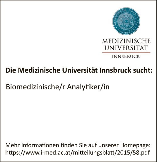 Biomedizinische/r Analytiker/in