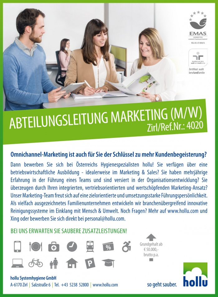 Abteilungsleitung Marketing (m/w)