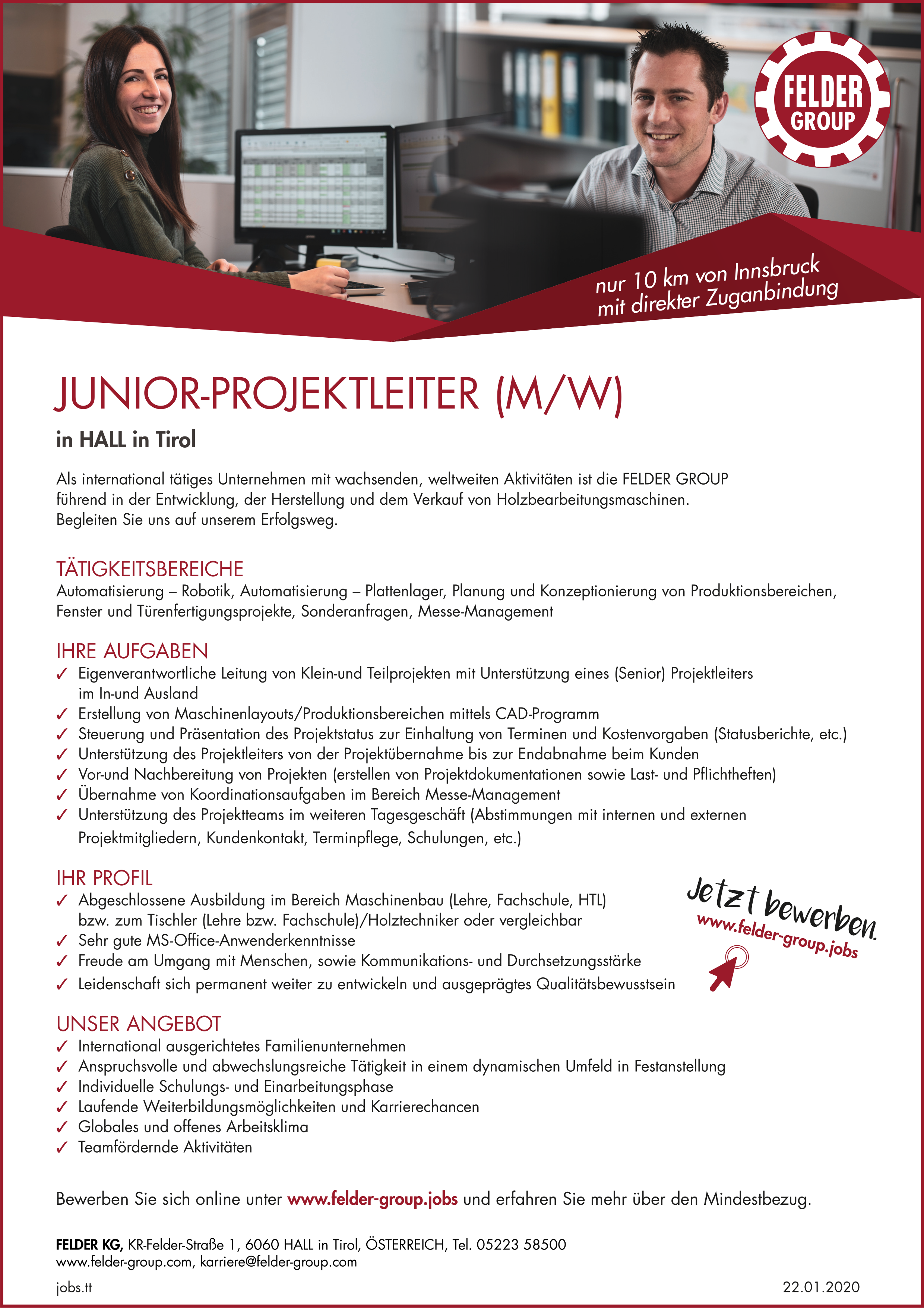 JUNIOR-PROJEKTLEITER (M/W)