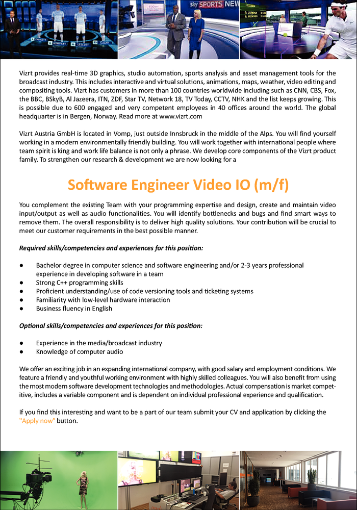 Software Engineer Video I/O (m/f)