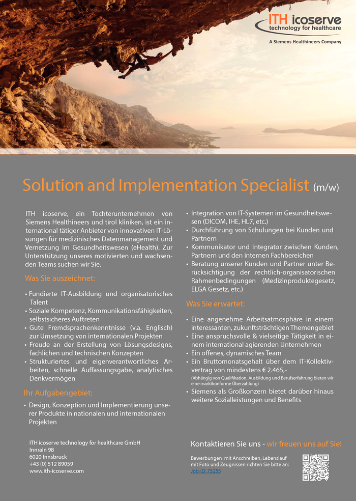 Solution and Implementation Specialist (m/w)