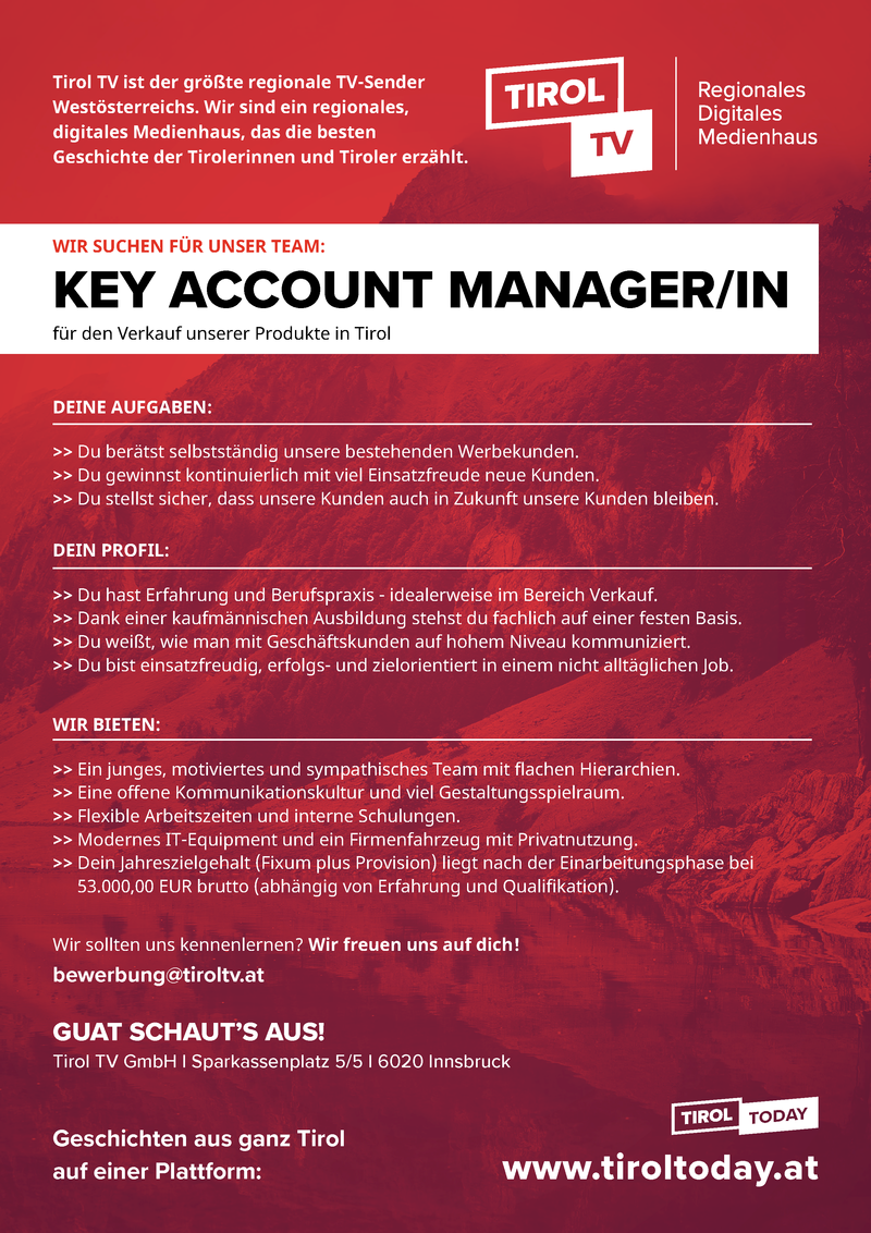 Key Account Sales Manager - Medienberater