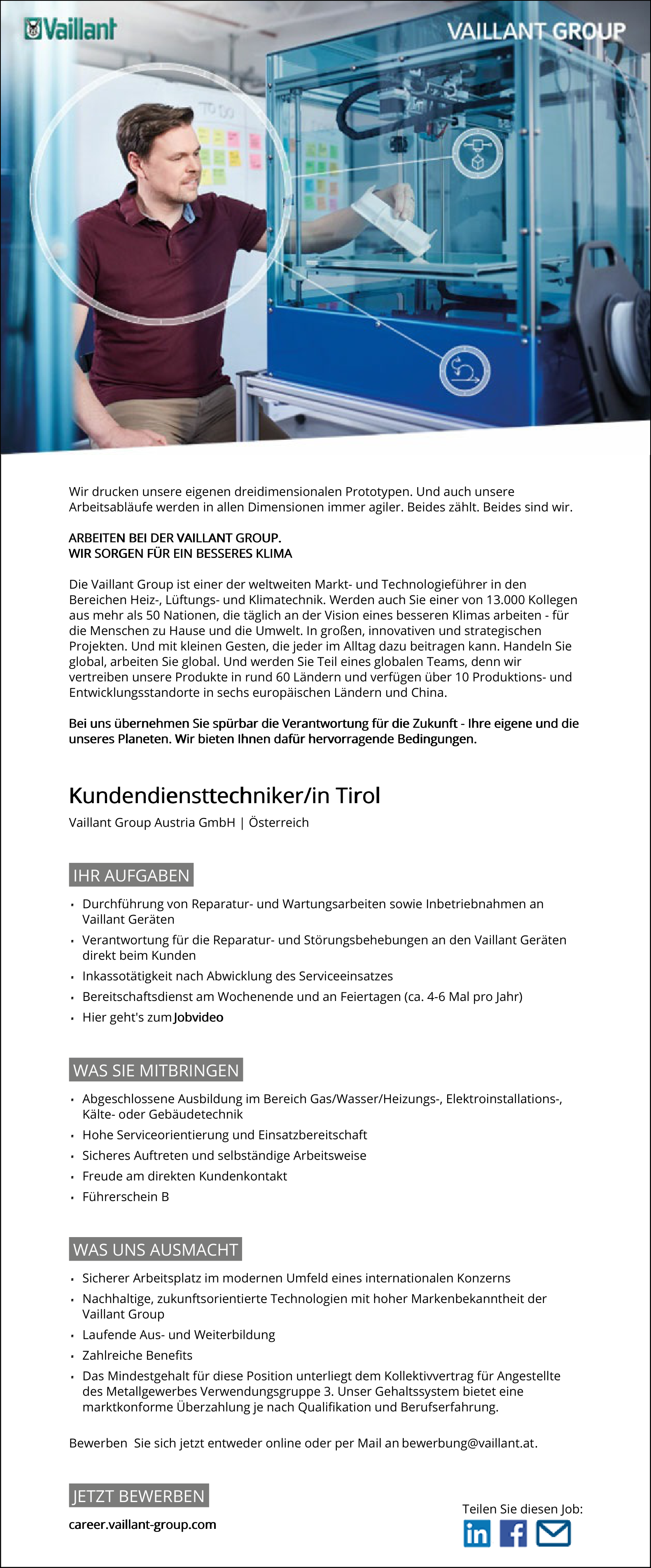 Kundendiensttechniker/in