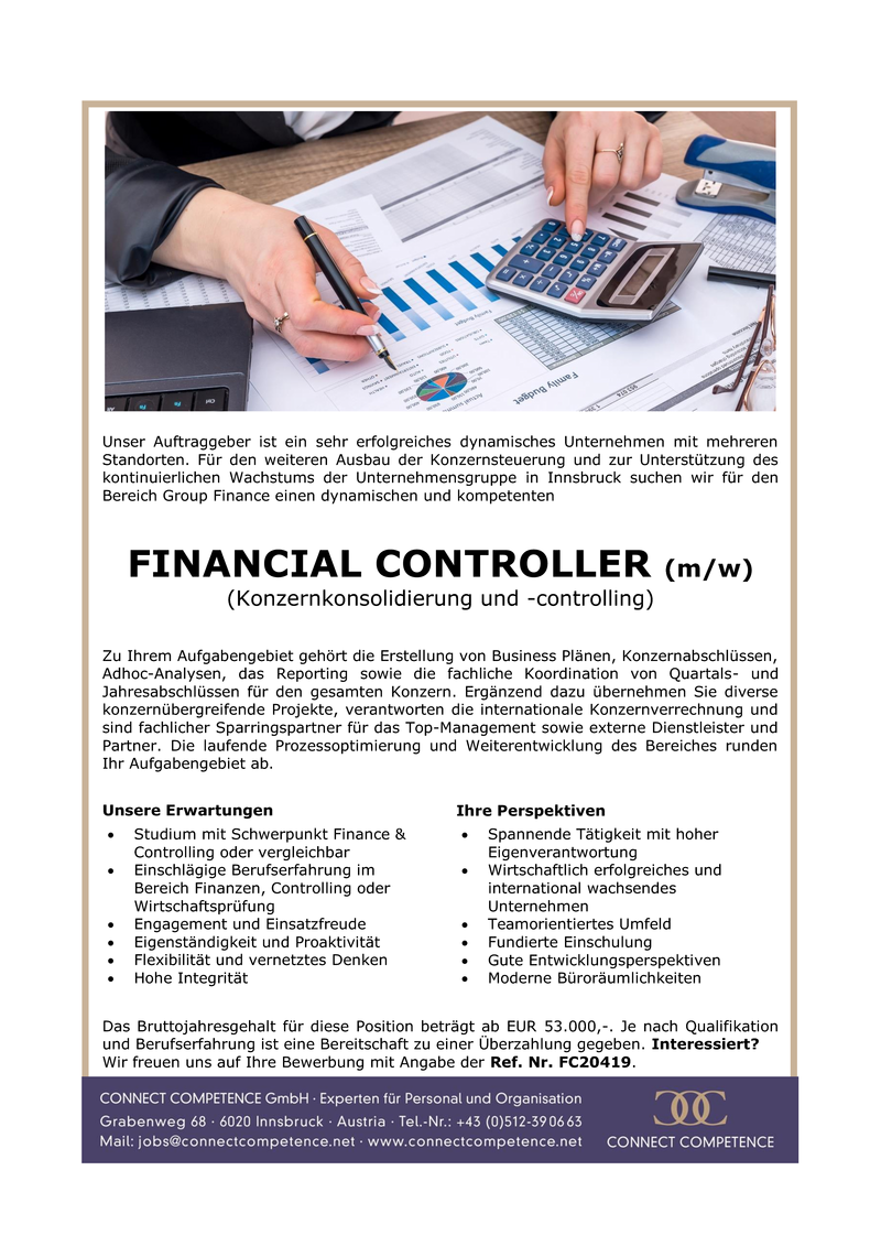 GROUP FINANCIAL CONTROLLER (m/w)