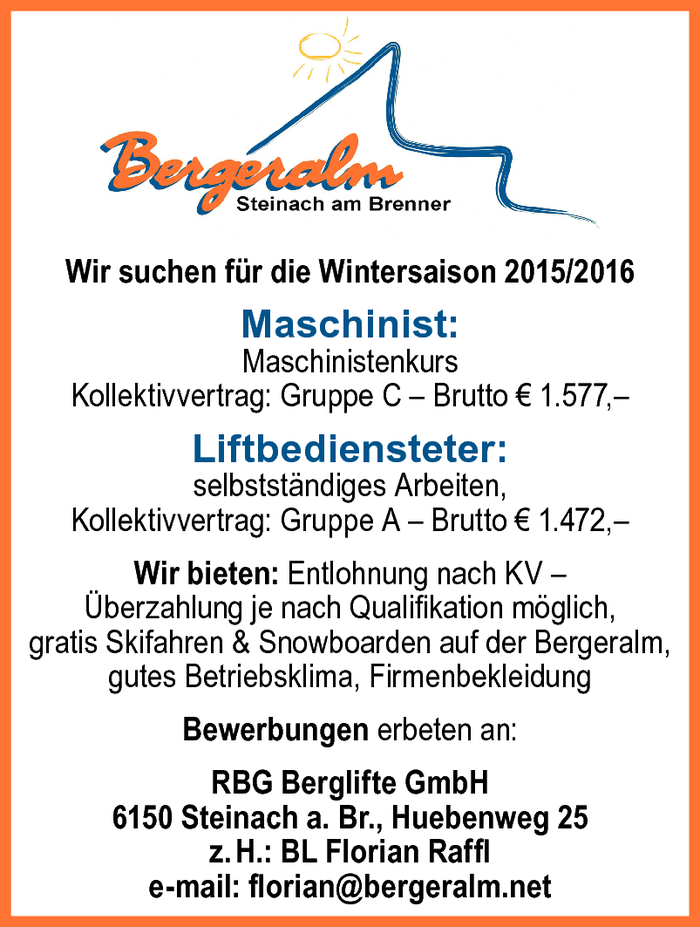 Maschinist,  Liftbediensteter