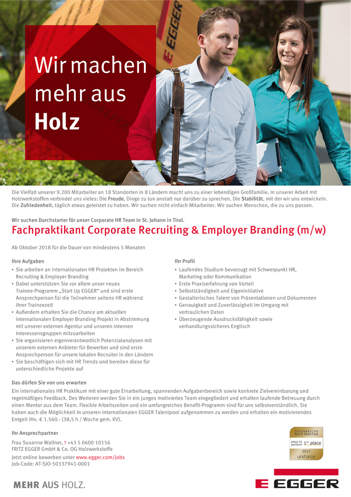 Fachpraktikant Corporate Recruiting & Employer Branding (m/w)
