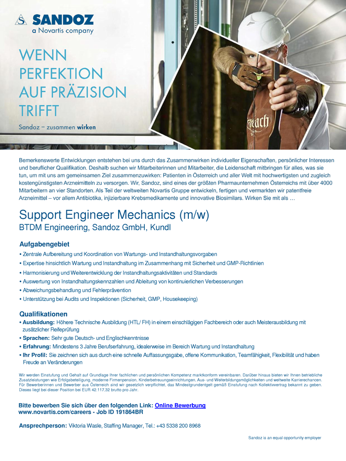 Support Engineer Mechanics (m/w)