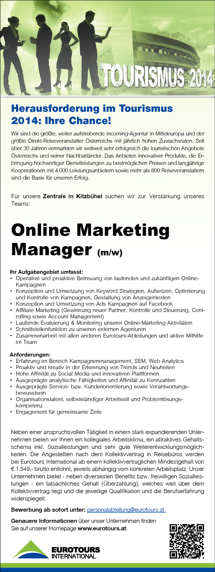 Online Marketing Manager (m/w)