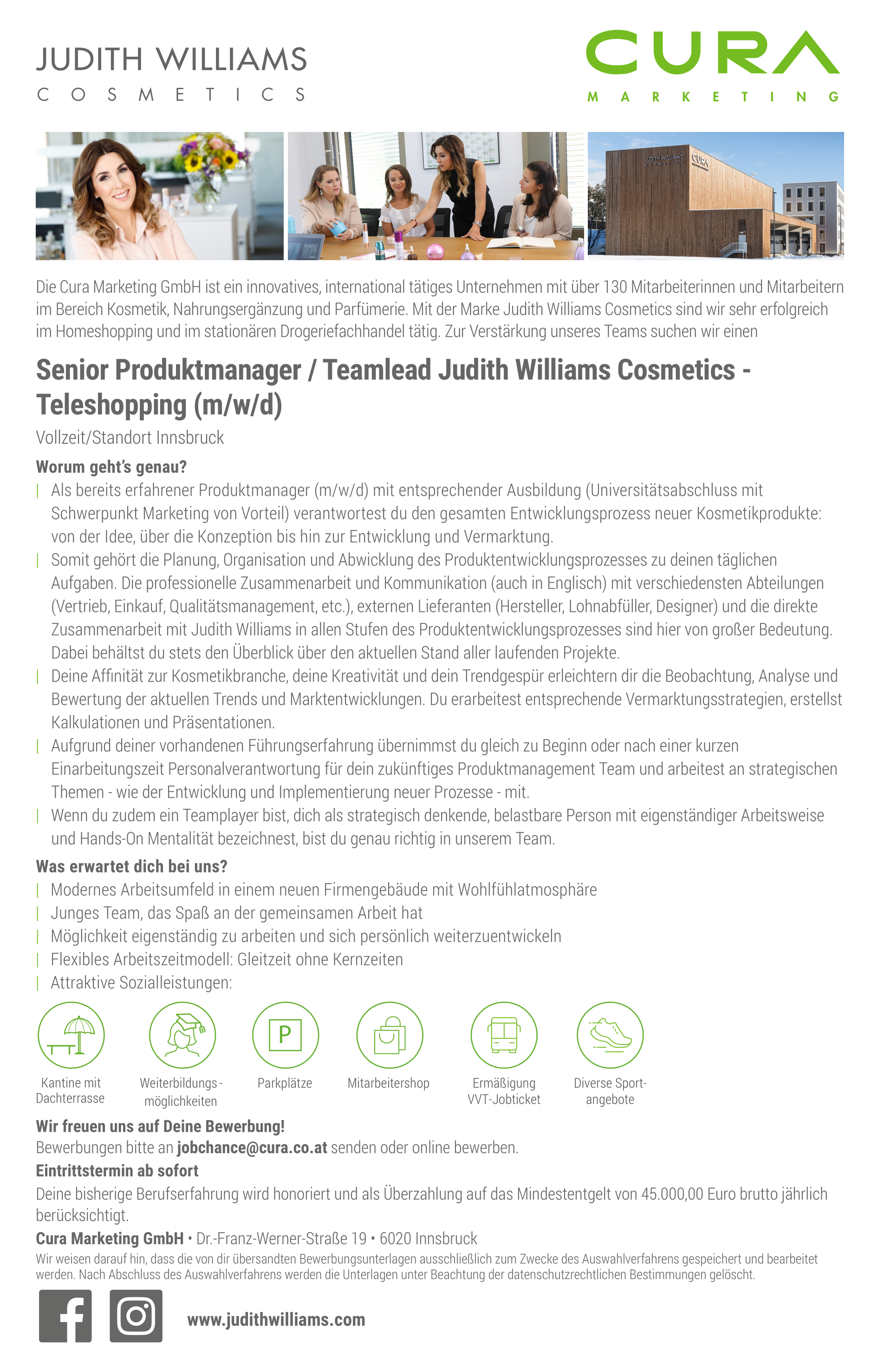 Senior Produktmanager / Teamlead Judith Williams Cosmetics - Teleshopping (m/w/d)
