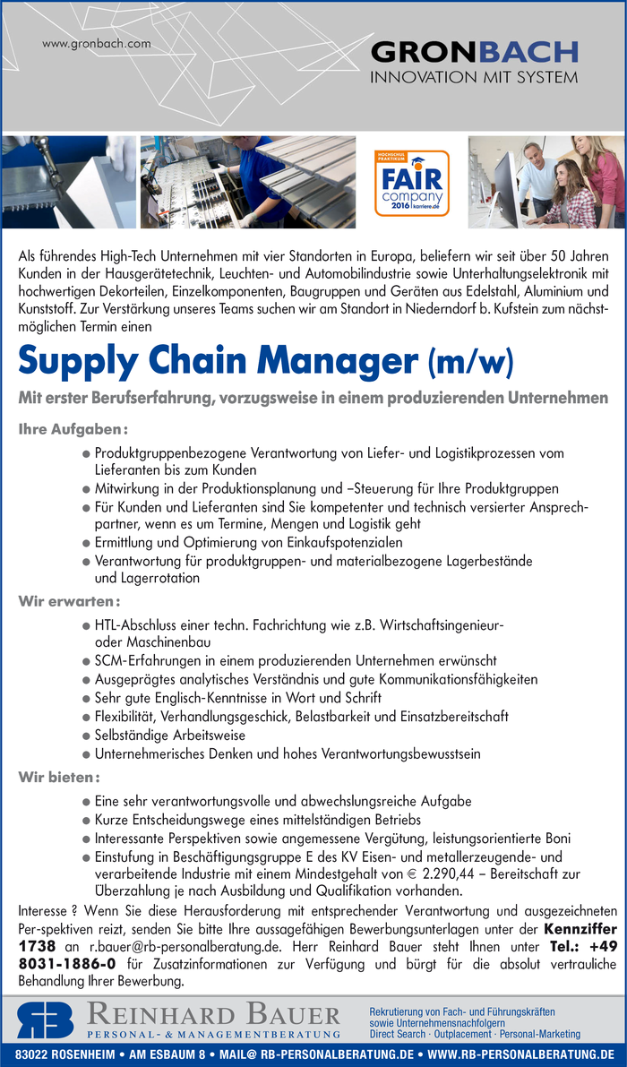 Supply Chain Manager (m/w)