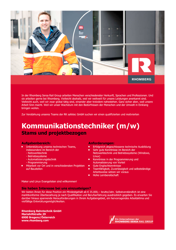 Kommunikationstechniker (m/w)