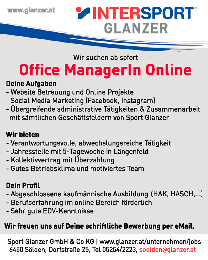 Office Managerin Online