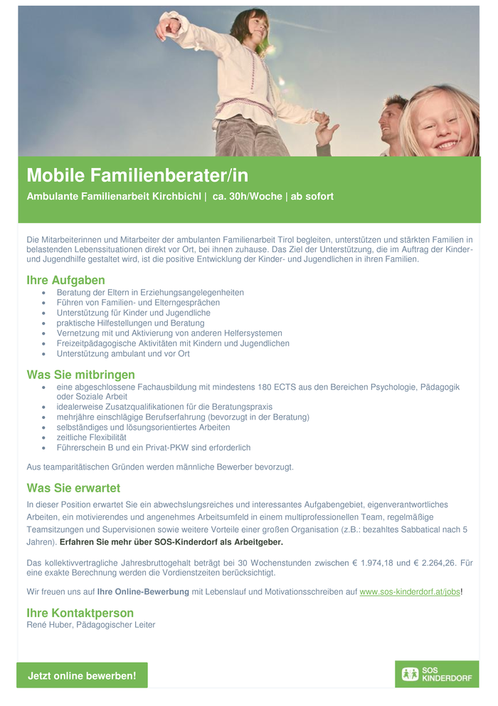Mobile Familienberater/in