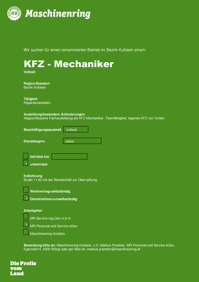 Kfz-Mechaniker m/w