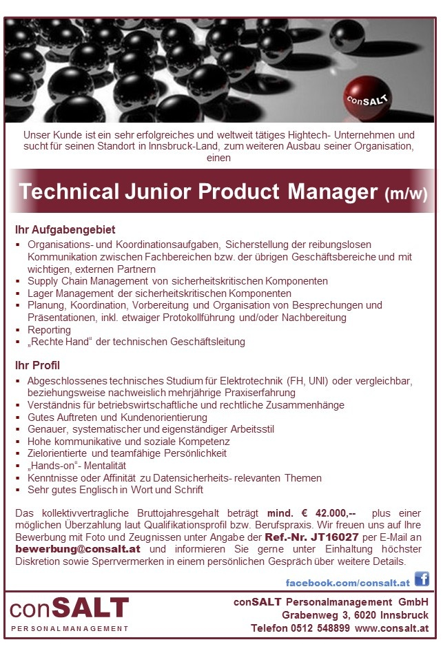 Technical Junior Product Manager (m/w)