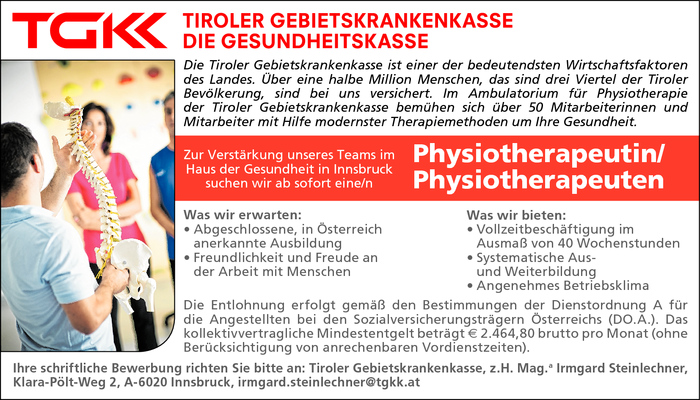 Physiotherapeutin/ Physiotherapeut