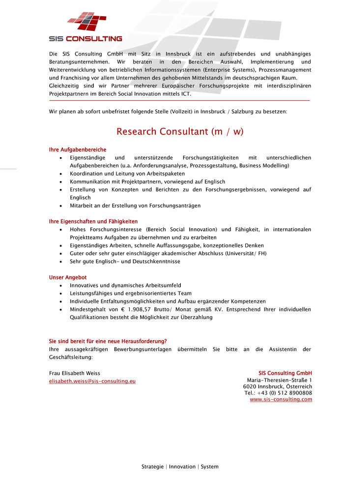 Research Consultant