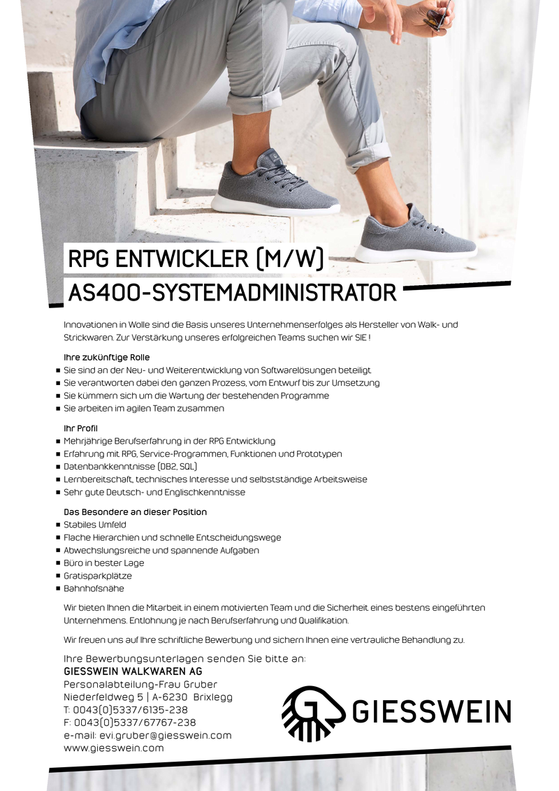 RPG ENTWICKLER / AS400-SYSTEMADMINISTRATOR (M/W)