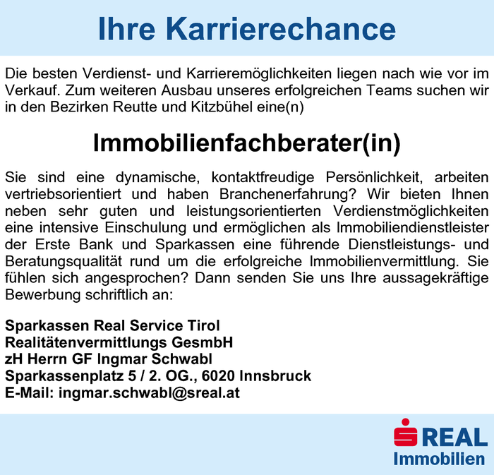 Immobilienfachberater(in)