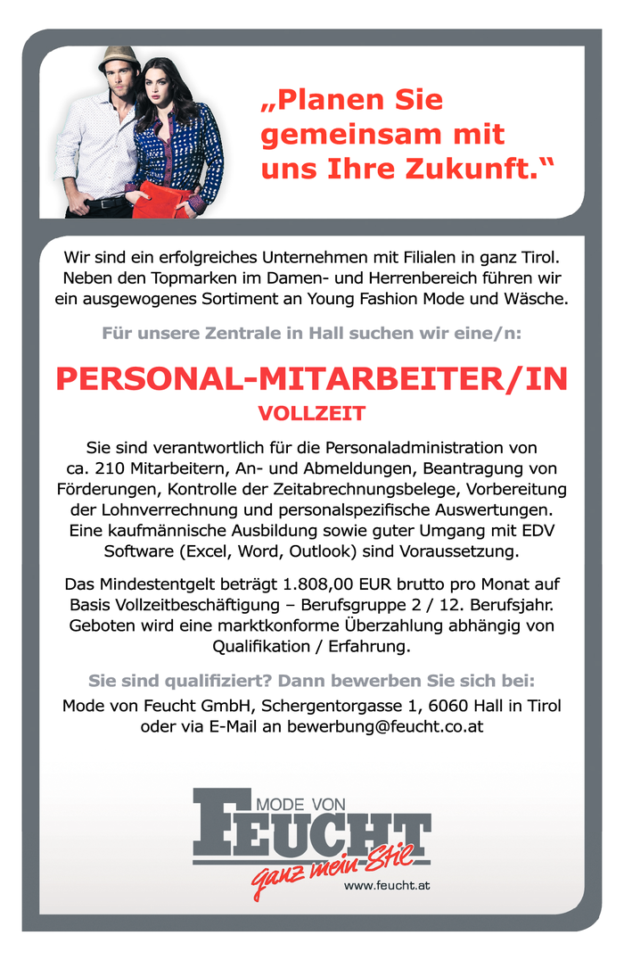 PERSONAL-MITARBEITER/IN