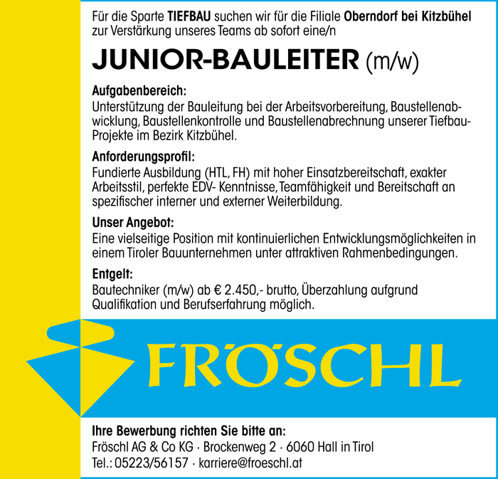 Junior-Bauleiter (m/w)